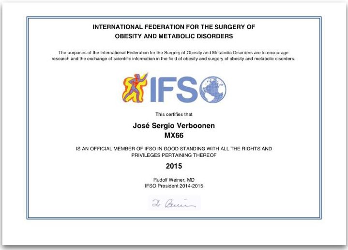 Dr. Verboonen IFSO Accreditation